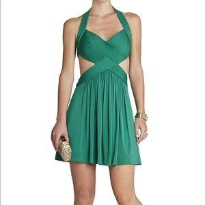 BCBG Shea Halter Cutout Cocktail Dress S